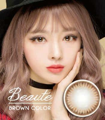 [ 乱視用カラコン2枚 ] beauté 最高品質 [直径 : 14.0mm 着色:13.6mm] shine ブラウン