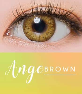 ANGE ブラウン[直径 : 14.2mm 着色:13.7mm] お人形のようなデカ目カラコンBrown  (度あり度なし~-10.00まで)