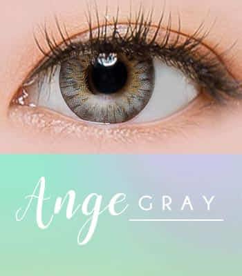 ANGE グレー[直径 : 14.2mm 着色:13.7mm] お人形のようなデカ目カラコンGRAY  (度あり度なし~-10.00まで)
