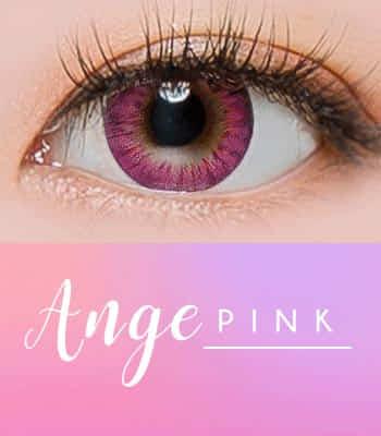[ 乱視用カラコン2枚 30% OFF ] ANGE ピンク[直径 : 14.2mm 着色:13.7mm] お人形のようなデカ目Pink