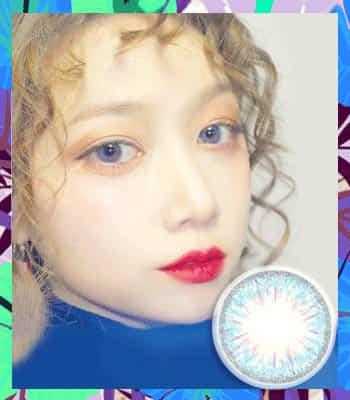 ドキドキブルーハーフ3ヶ月レンズ★最高品質★直径 : 14.0mm 着色:13.2mm度あり度なし~-10.00までBlue