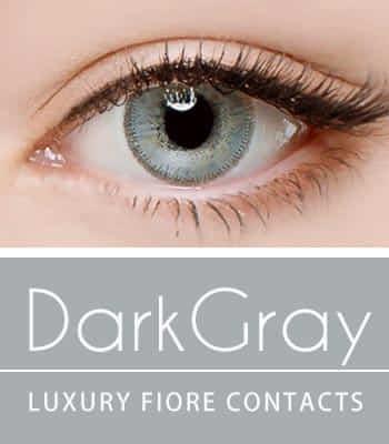[ハーフ女神3ヶ月レンズ]フィオーレダークグレー カラコン[着色直径:14.0mm】UVカット*発色大魔王*最高品質Luxury dark gray