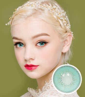 [ハーフ女神3ヶ月レンズ]フィオーレアクア カラコン[着色直径:14.0mm】UVカット*童話の中のお姫様*最高品質Luxury Fiore aqua