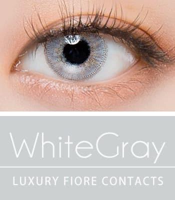 [ハーフ女神3ヶ月レンズ]フィオーレホワイトグレー カラコン【着色直径:14.0mm】UVカット*ナイトクラブの女神*最高品質Luxury Fiore white gray