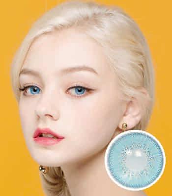 [ハーフ女神3ヶ月レンズ]フィオーレブルー カラコン[着色直径:14.0mm】UVカット*高発色パワー*最高品質Luxury Fiore blue