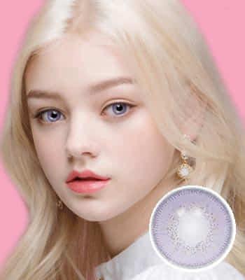 [ハーフ女神3ヶ月レンズ]フィオーレバイオレット カラコン[着色直径:14.0mm】UVカット*ラベンダーの香り*最高品質Luxury Fiore violet