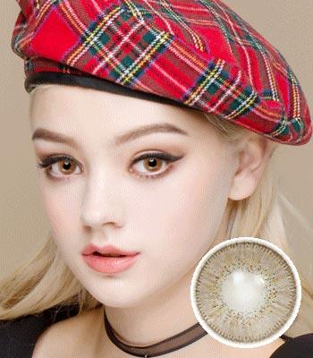 [ハーフ女神3ヶ月レンズ]フィオーレブラウン カラコン[着色直径:14.0mm】UVカット*贅沢な発色*最高品質Luxury Fiore Brown