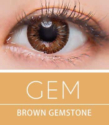 [超高コスパ1ヶ月レンズ]ジェムブラウン カラコン[着色直径:13.0mm】シリコーンハイドロゲル*雰囲気女神Gem Brown