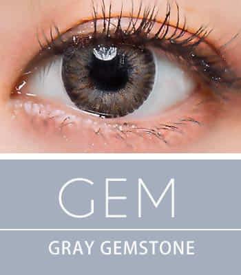 【生産終了予定品! お早めに!】[超高コスパ1ヶ月レンズ]ジェムグレー カラコン[着色直径:13.0mm】シリコーンハイドロゲル*アイドルみたいGem Gray