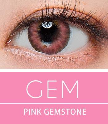 [超高コスパ1ヶ月レンズ]ジェムピンク カラコン[着色直径:13.0mm】シリコーンハイドロゲル*しっとり発色Gem pink