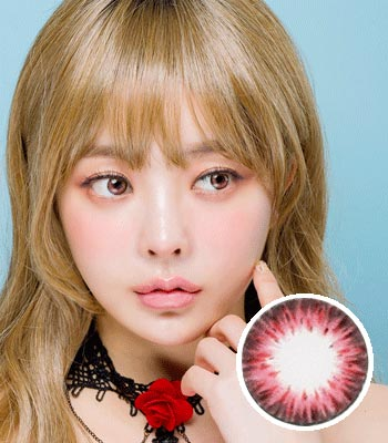 [超高コスパ1ヶ月レンズ]ジェムピンク カラコン[着色直径:13.0mm】シリコンハイドロゲル*しっとり発色Gem pink