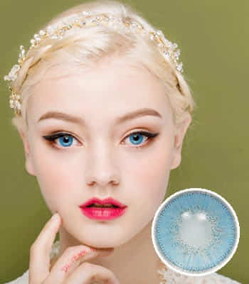 [ハーフ女神3ヶ月レンズ]フィオーレサファイア カラコン[着色直径:14.0mm】UVカット*童話の中のお姫様*最高品質Luxury Fiore Sapphire
