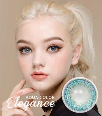 [王女の瞳3ヶ月レンズ]エレガンスアクア カラコン[着色直径:12.8mm】UVカット*発色パーティーElegance Aqua