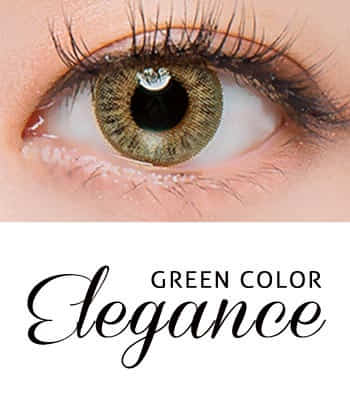 [王女の瞳3ヶ月レンズ]エレガンス・グリーン  カラコン[着色直径:12.8mm】UVカット*私の中の女神Elegance Green
