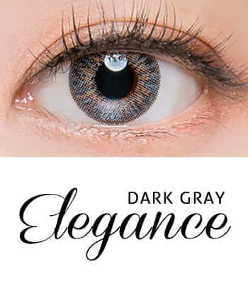 [王女の瞳3ヶ月レンズ]エレガンス・ダークグレー カラコン[着色直径:12.8mm】UVカット*瞳美人Elegance Dark Gray
