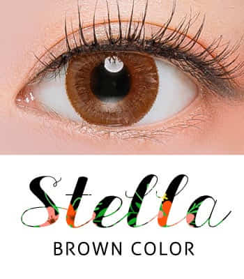 【オルチャンムード】ステラブラウン カラコン[着色直径:13.7mm]告白されたい*女子力アップの秘密*デカ目Stella Brown