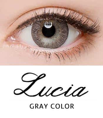 [あざと可愛い]ルチアグレー カラコン[着色直径:13.4mm】度あり度なし~-12.00まで自然*仔犬みたいなLucia Gray