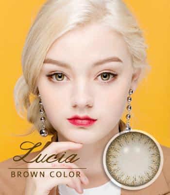 [ 乱視用カラコン2枚 ] [あざと可愛い]ルチアブラウン[着色直径:13.4mm]さりげないレンズ*落ち着いた目元Lucia Brown