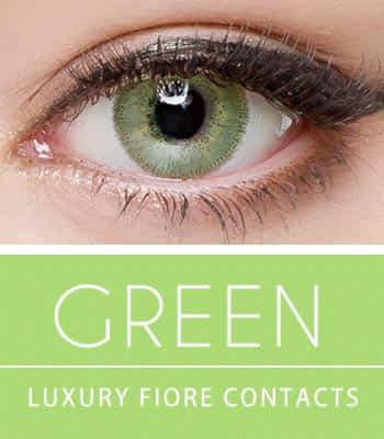 [ハーフ女神3ヶ月レンズ]フィオーレ・グリーンカラコン[着色直径:14.0mm】UVカット*魔法使い到来*最高品質LuxuryFiore Green