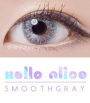 [NEW 50% OFF]ナチュラルハーフHELLO ALICE SmoothGray グレーカラコン[DIA : 14.2mm 着色直径:13.8mm]