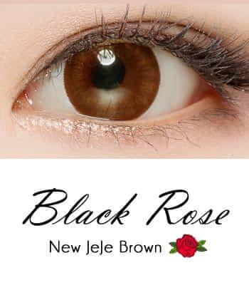 限定販売★ 乱視用カラコン2枚 Black Rose ジェジェ・ブラウンPREMIUM [直径 : 14.0mm 着色:13.2mm]JEJE Brown