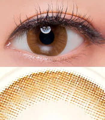 [乱視用カラコン2枚]ルナモネブラウン ★BC 選択可能★含水率 42%ナチュラル[直径 : 14.0mm 着色:13.0mm BC : 8.2/8.4/8.6]Luna Monet Brown