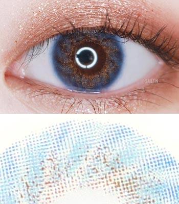 Mignon ブルーカラコン 最高品質 IWWI TIAM [直径 : 14.2mm 着色:13.1mm] ハーフカラコン(度あり度なし~8.00まで) Blue
