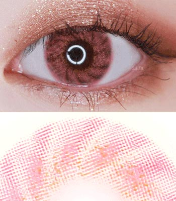 Mignon ピンクカラコン 最高品質 IWWI TIAM [直径 : 14.2mm 着色:13.1mm] ハーフカラコン(度あり度なし~8.00まで) Pink