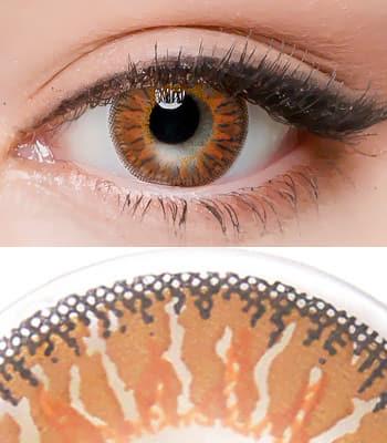 [乱視用カラコン2枚]Tiffany Orange高発色・チョコ★最高品質★[直径 : 14.2mm 着色:13.5mm]ティファニーChoco