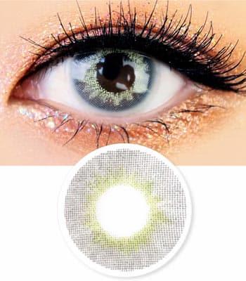 [1+1] [1ヶ月レンズ] Mistic 最高品質 [770円+770円]グレーカラコン[直径 : 14.0mm 着色:13.0mm] [計2箱]COLOR選択可能 (度あり度なし~-8.00まで) GRAY