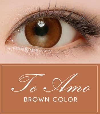 [ 乱視用カラコン2枚] PREMIUM★ナチュラルブラウンカラコンの女王★ ティ・アモ [直径 : 14.0mm 着色:13.5mm] Te amo Pearl Brown