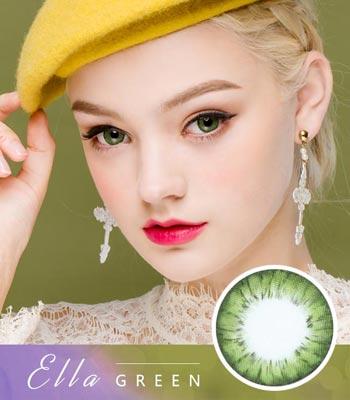 [乱視用カラコン2枚] エラ・グリーンElla Green「最高品質」デカ目・高発色・ハーフ[直径 : 14.2mm 着色:13.7mm]