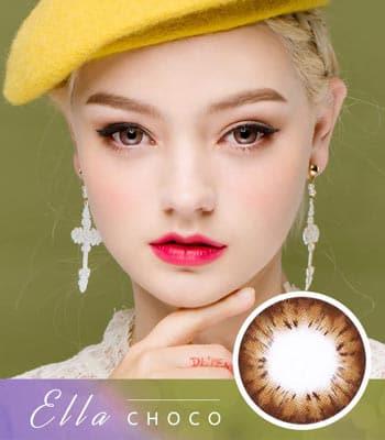 [乱視用カラコン2枚] エラ・チョコElla Choco「最高品質」デカ目・高発色・ハーフ[直径 : 14.2mm 着色:13.7mm]