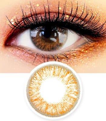 [マンスリー]アイズオンユー・ブラウン「PREMIUM」Eyes on You Brown ハーフ・高発色・マンスリー[直径 : 14.0mm 着色:12.9mm]度あり度なし~-8.00まで