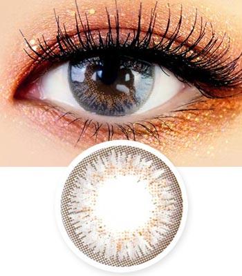 [マンスリー]アイズオンユー・グレー「PREMIUM」Eyes on You Gray ハーフ・高発色・マンスリー[直径 : 14.0mm 着色:12.9mm]度あり度なし~-8.00まで