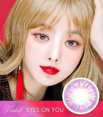 [マンスリー]アイズオンユー・バイオレット「PREMIUM」Eyes on You Violet ハーフ・高発色・1ヶ月[直径 : 14.0mm 着色:12.9mm]度あり度なし~-8.00まで