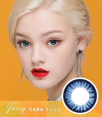 【乱視用カラコン2枚】ジューシー・カーラ・ブルー「PREMIUM」[直径 : 14.0mm 着色:13.3mm]Juicy Cara Blue 高発色