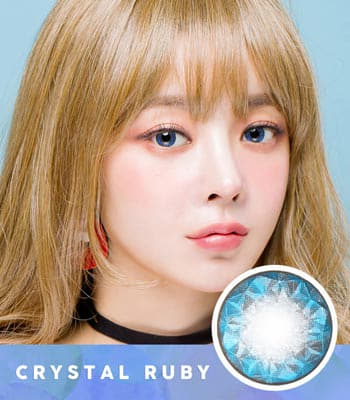 【乱視用カラコン2枚】クリスタル・ルビー・ブルー★BC 選択可能★含水率 42% [直径 : 14.0mm 着色:13.7mm BC : 8.2/8.4/8.6] Ruby Queen Blue