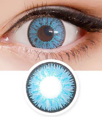 コスプレ用 2枚・度なし【キャンデーハロウィーン・ブルー Candy Halloween Blue】「最高品質」 含水率:40% 青色カラコン、高発色ハーフ Candy Halloween Blue contact lens