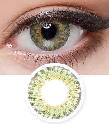 【UVカット・最高品質】グロッシー アーダー( Glossy Ardor )グリーン Green 「3ヶ月レンズ」ブランドの新作カラコン|含水率:43% 着色直径:13.2|ハーフナチュラル