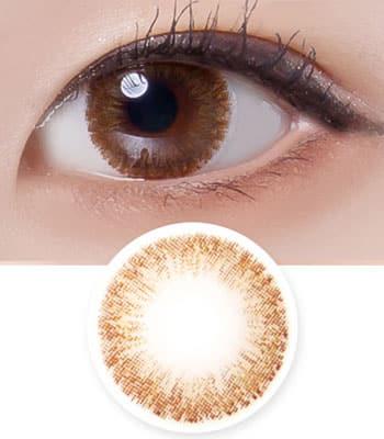 【ブラウンカラコン】シュガー モダン Sugar modern brown「最高品質」ナチュラル 含水率:38% 着色直径:13.3 度あり度なし~-8.00まで